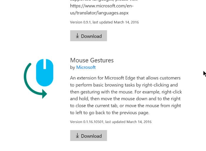 Instalar extensiones de borde en Windows 10 Paso 3