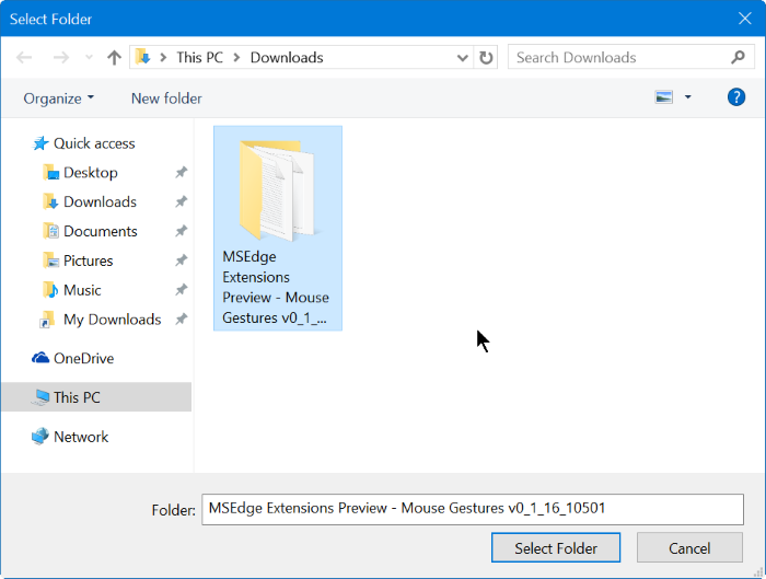Instalar extensiones de borde en Windows 10 Paso 8