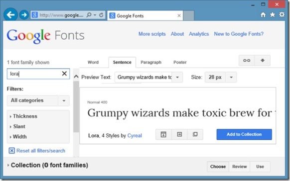 Instalar fuentes web de Google en Windows Picture1