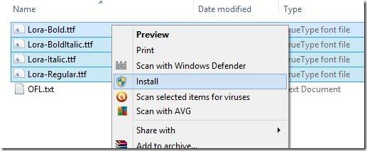Instalar fuentes web de Google en Windows Picture4