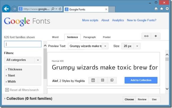 Instalar fuentes web de Google en Windows