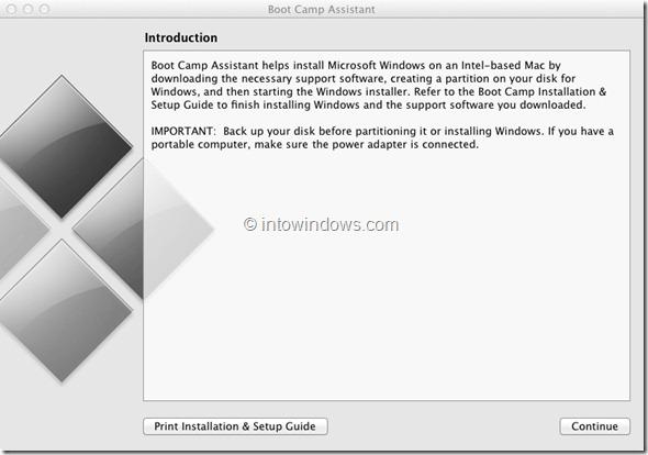 Instalar Windows 8 en Mac Paso 1