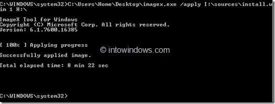 Install Windows 8 On USB Drive Step5