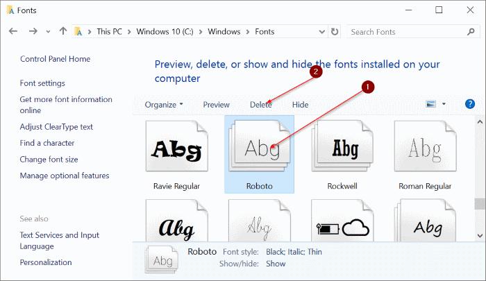 Instalar fuentes en Windows 10 pic4