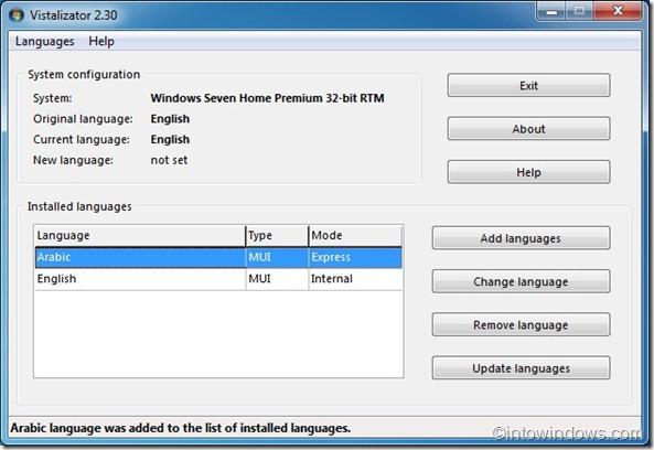 Instalar paquete de idioma en Windows 7 Home Premium edition1
