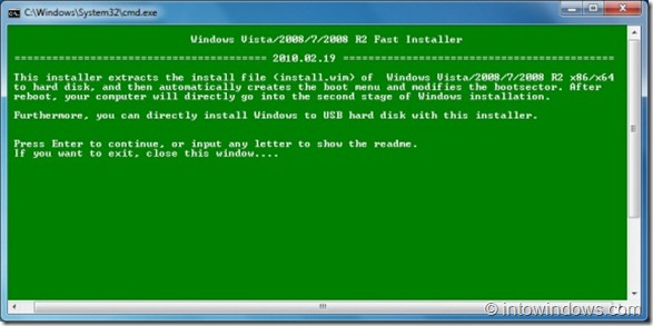 Instalar Windows 7 en un disco duro externo USB1
