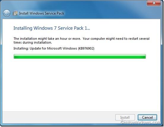 Instalación del Service Pack 1 de Windows 7