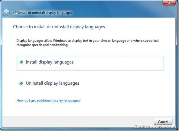 Instalar paquetes de idioma en windows 7
