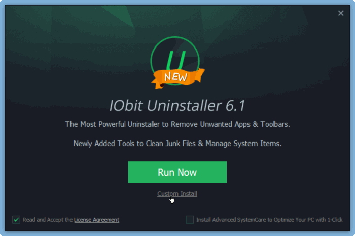 Iobit Uninstaller for Windows 10