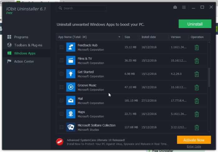 download iobit uninstaller for windows 10
