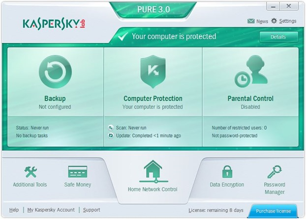 Kaspersky PURE 3.0 para Windows