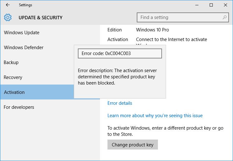 Sepa por qué no se activó su Windows 10 (3)