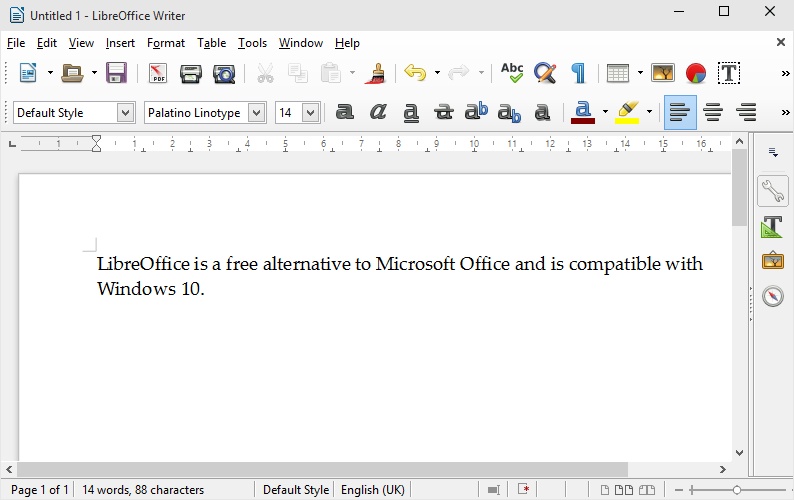 LibreOffice for Windows 10
