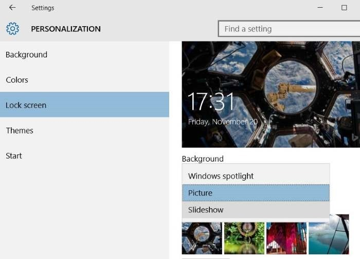 Like what you see on Windows 10 lock screen step3