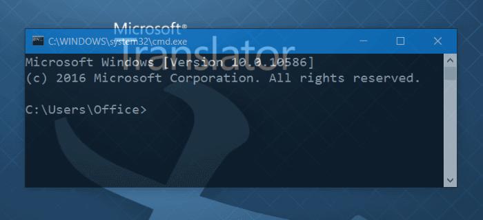 Hacer transparente el CMD del símbolo del sistema en Windows 10