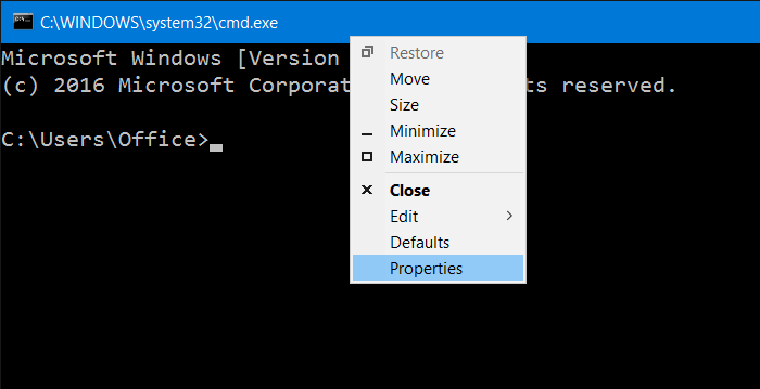 Hacer transparente el símbolo del sistema en Windows 10 pic1
