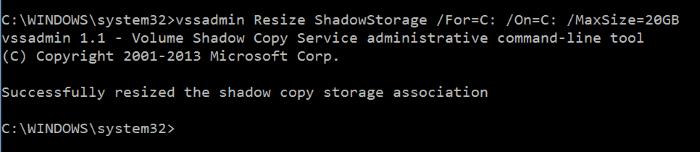 Hacer que la restauración del sistema use menos espacio en disco en Windows 10 step5