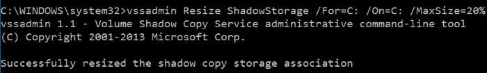 Hacer que la restauración del sistema use menos espacio en disco en Windows 10 step6
