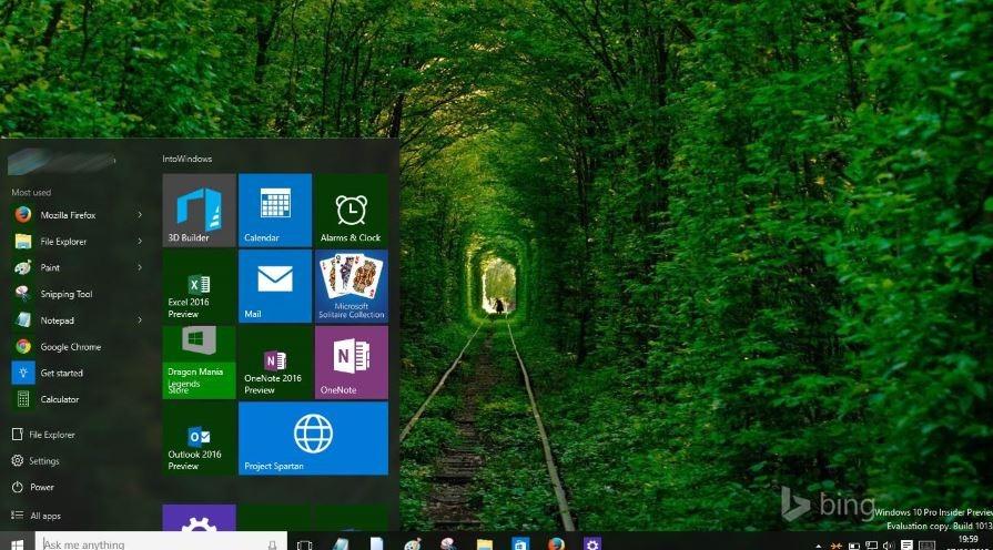 Hacer transparente la barra de tareas en Windows 10