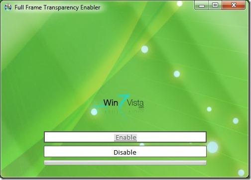 Hacer transparentes los bordes de Windows 7 Ventana
