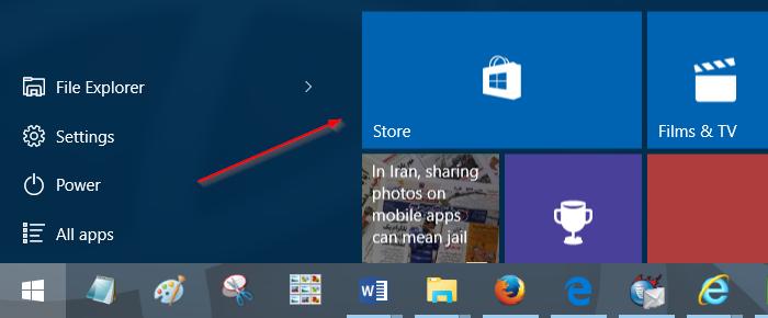 Actualizar manualmente las aplicaciones instaladas desde Store en Windows 10 Paso 1