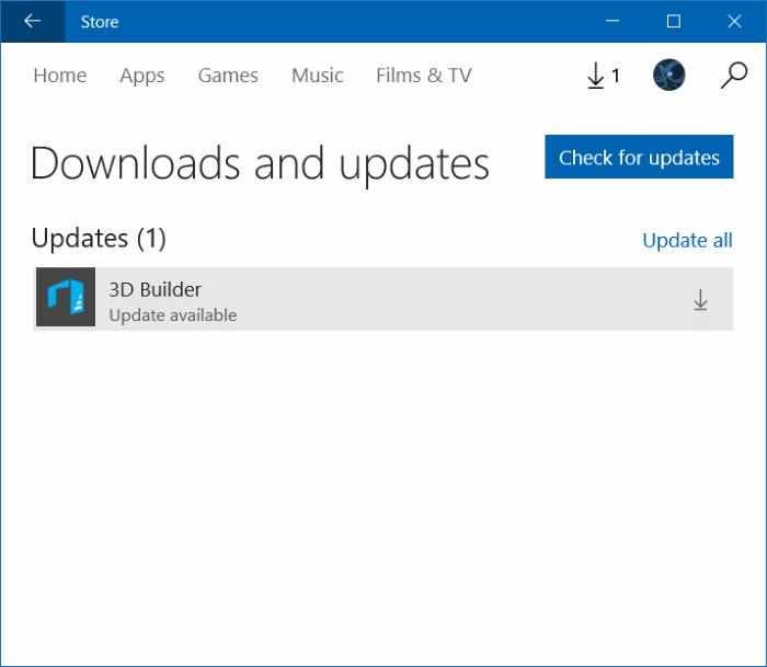 Actualizar manualmente las aplicaciones instaladas desde Store en Windows 10 step4