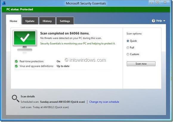 Microsoft Security Essentials 4 Beta Picture55