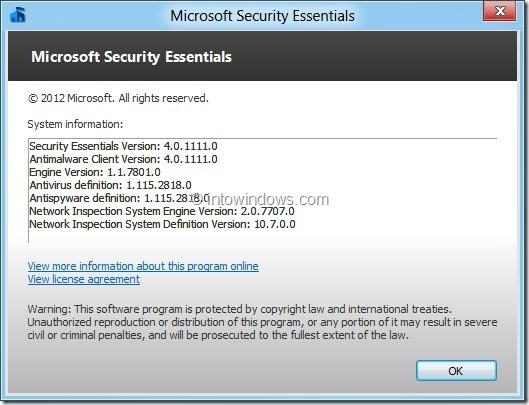 Microsoft Security Essentials 4 Beta Picture6
