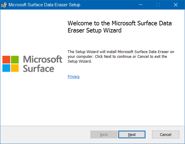 Microsoft Surface Data Eraser pic1