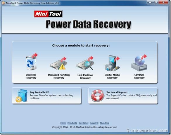 MiniTool Power Data Recovery - Edición gratuita para Windows