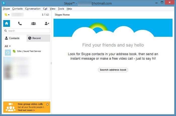 Minimizar el área de notificación de Skype a la bandeja del sistema