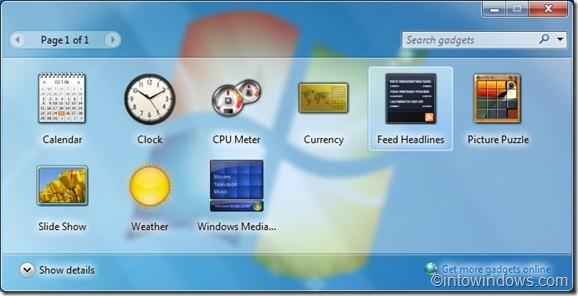 Minimizar los gadgets de windows 7