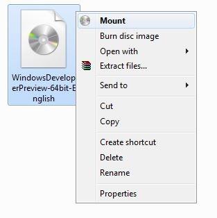Montar archivo ISO en Windows 8