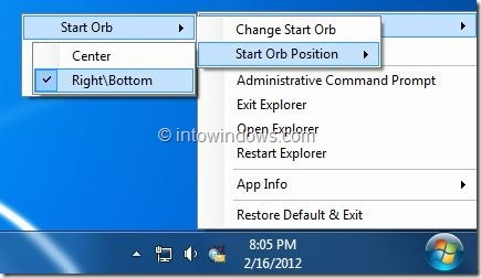 Move Start Orb And Start Menu With Orb Mover