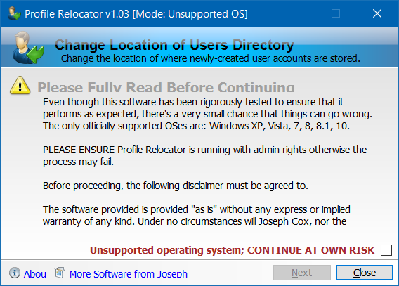 Mover la carpeta de perfil de usuario a otra unidad en Windows 10 step1