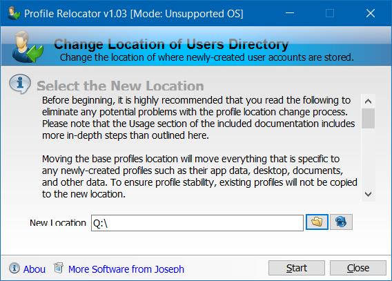 Mover carpeta de perfil de usuario a otra unidad en Windows 10 step3