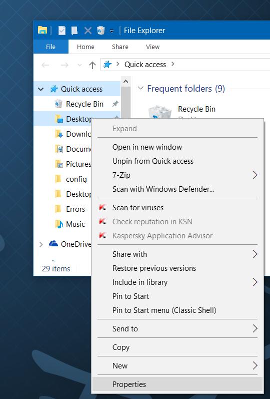 Mover descargas y carpetas de escritorio a otra unidad en Windows 10 step2