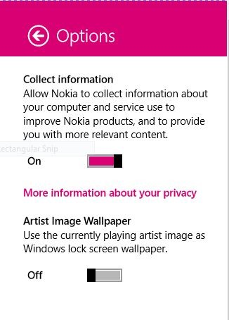 Nokia Music app For Windows 8 Picture1