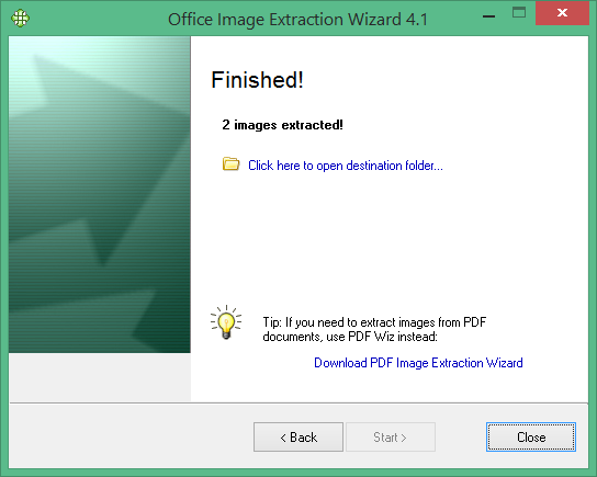 Office Image Extraction Wizard to extract images from Word and powerpoint