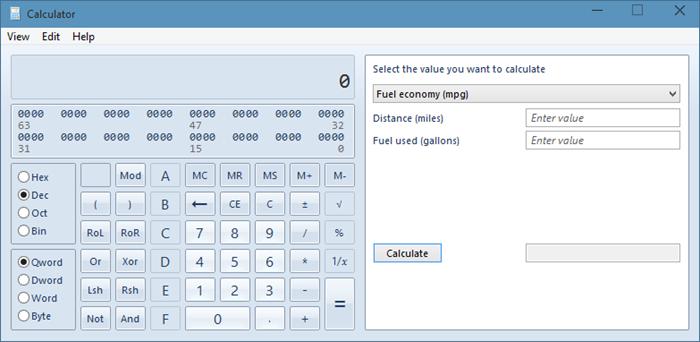 Calculadora antigua en Windows 10 picture1