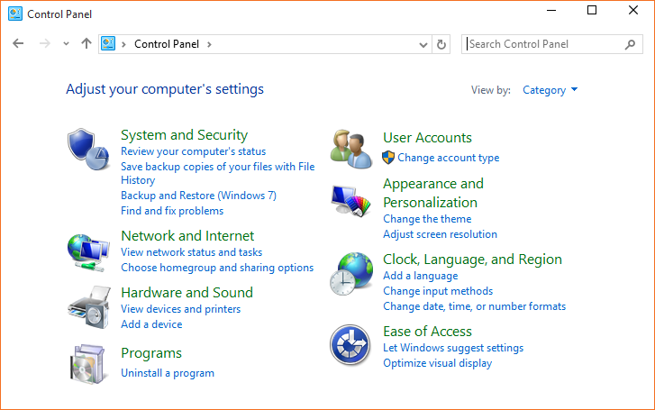 Abrir Panel de control Windows 10 step01