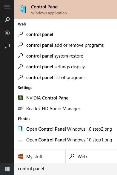 Abrir Panel de control Windows 10 step3