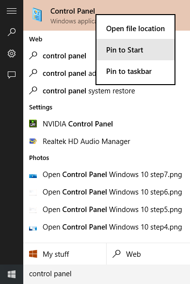 Abrir Panel de control Windows 10 step8