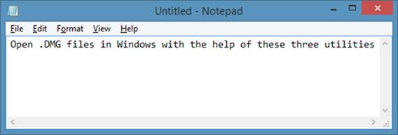 Open DMG Files In Windows os