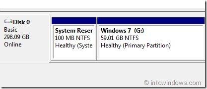 Abrir partición reservada del sistema oculta en Windows 7 Paso 5
