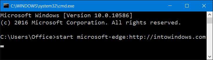 Abrir la línea de comandos de Microsoft Edge From en windows 10step4