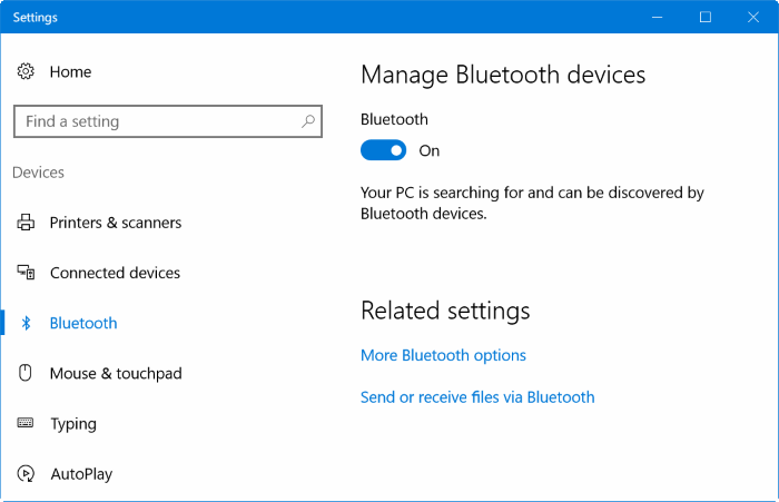 Emparejar iphone con Windows 10 vía Bluetooth (01)