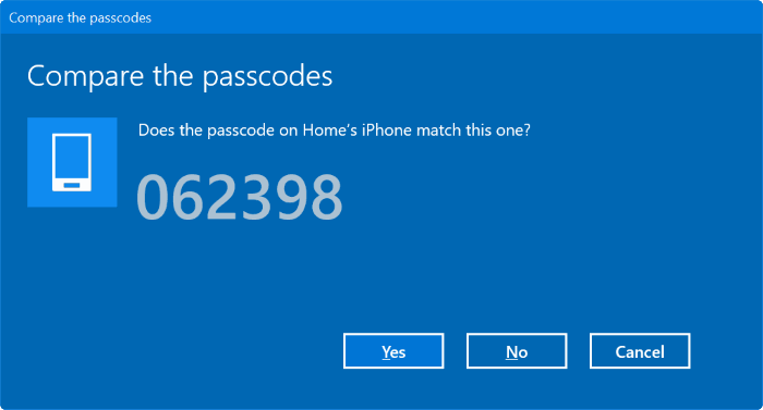 Emparejar iphone con Windows 10 vía Bluetooth (3)
