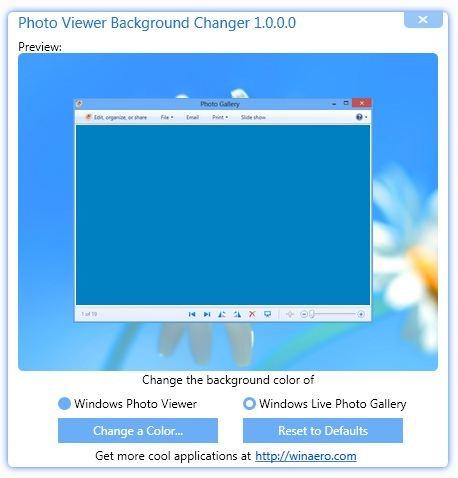 Photo Viewer Background Changer
