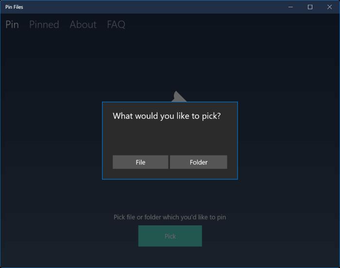 Pin Files to Start menu in Windows 10 pic1.1